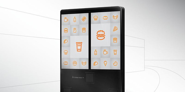A rendering of a Melitron outdoor digital menu board shows an example of one of Melitron's digital signage and kiosk products from the new product lineup.