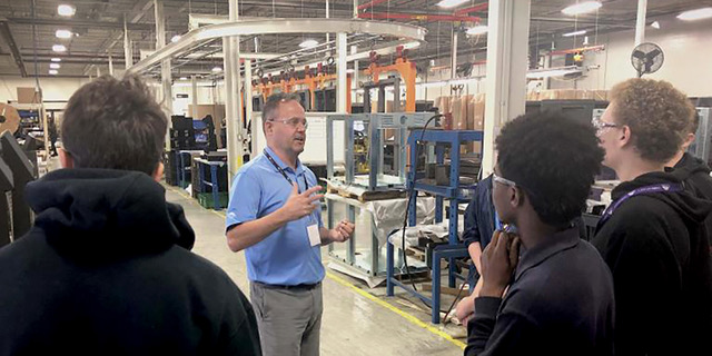 Local students take a tour of Melitron's manufacturing facilities for Manufacturing Day 2019.